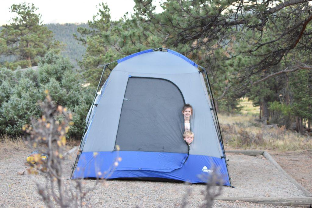 A Family of Four Happy Campers Color the Map in Scenic Colorado